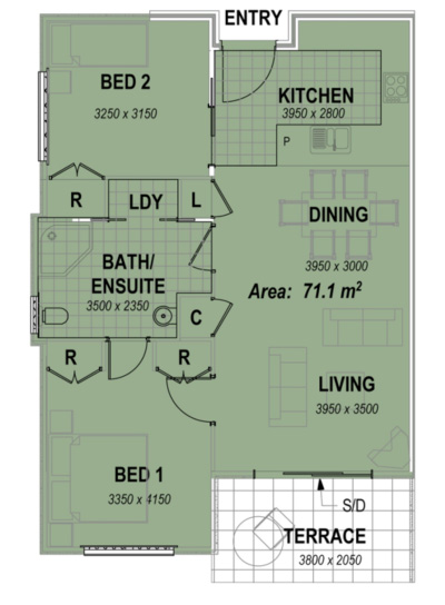 two bedroom apartment facing north floor plans