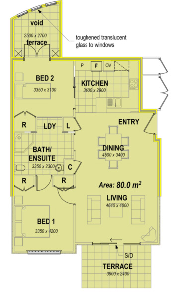 two bedroom apartment facing east west floor plans